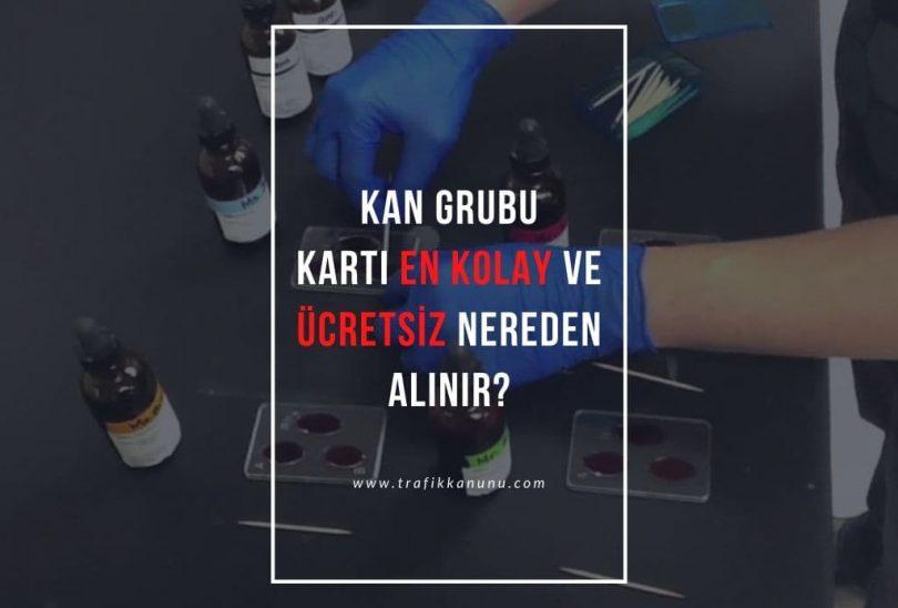 Kan grubu kartı nasıl çıkarılır?